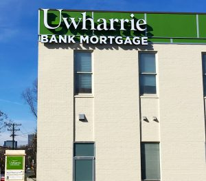 Check Out this Sign Package in Charlotte We Did for Uwharrie Bank!