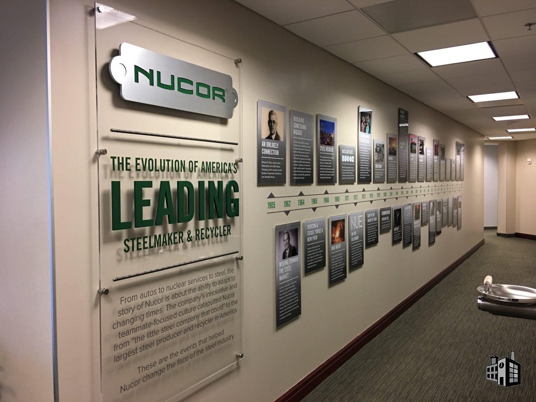 Nucor Lobby Signs