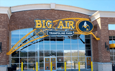 Big Air outdoor signs front